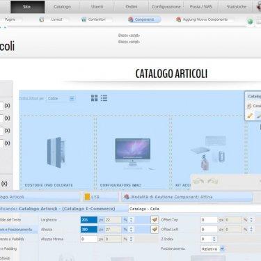 Modifica la grafica del sito in modalità live editing