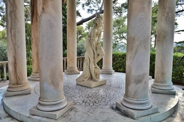 Garden statue, Rothschild Villa, Nice, France