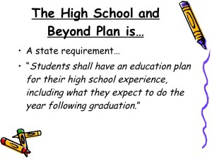 High School and Beyond Plan (HSBP) – Washington State – OSPI Requirement