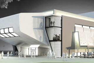 Artist rendition of performing arts center