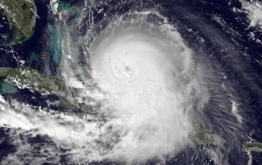 Figure 1. Image visible de l'ouragan JOAQUIN le 1er octobre 2015. Crédit image : MODIS
