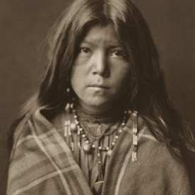 "Edward S. Curtis, Chideh – Apache, 1903, platinum, 14 x 10"""