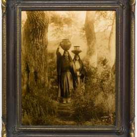 """Edward S. Curtis, Taos Water Girls, 1905, goldtone, 22 x 18"""""""