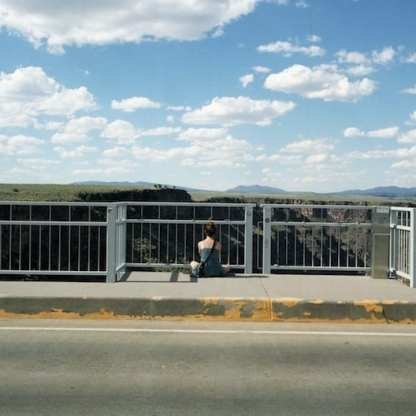 Girl, Rio Grande Gorge Bridge, New Mexico ©Jill Moore