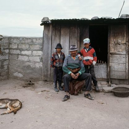 Man with Two Sons and Dog, Ecuador, 1995