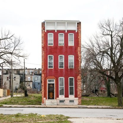 Last House Standing, Baltimore, Md, 2010 ©Ben Marcin