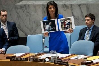 مندوبة واشنطن الدائمة لدى الأمم المتحدة، نيكي هيلي