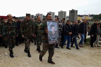 """من تشييع اللواء """"أحمد محمد حسينو"""" في بلدة """"الزقزقانية"""""""