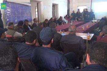 ندوة لتوعية المدنيين من مخاطر المخدرات والخطف في درعا