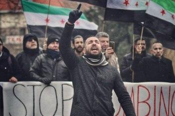 سوريون يتظاهرون في هولندا لوقف المجازر في الغوطة