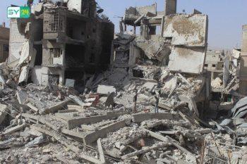 الدمار الذي خلفه قصف النظام على الغوطة
