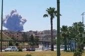 انفجارات في مطار حماة العسكري