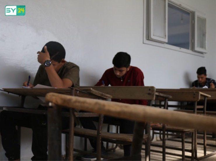 رصد جانب من سير العملية الامتحانية في ريف حماة