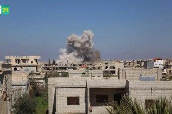 بقصف للنظام على ريف درعا