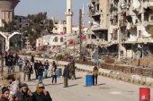 إحراق صورة بشار الأسد في بلدة بدمشق
