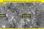 إسرائيل تنشر صوراً لمخزن الأسلحة الذي دمرته في اللاذقية