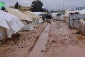 الأمطار تغرق خيام المهجرين في ريف حلب
