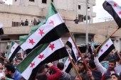 مظاهرة لأهالي مدينة بنش بريف إدلب إحياء لذكرى الثورة السورية