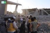 براميل النظام تقتل مدنيين في إدلب