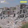 فيديو يظهر حجم الدمار المروع في بلدة إحسم بريف إدلب بسبب قصف النظام المتواصل