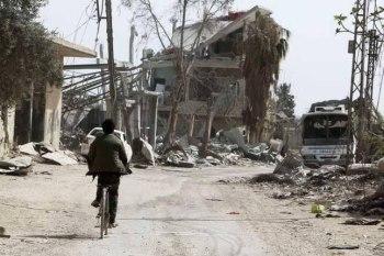 مقتل ثلاث سيدات بانفجار لغم في الغوطة الشرقية
