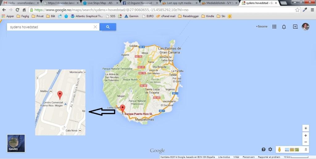 Sydens hovedstad ala Google maps.