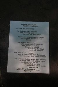 Diktet om det å reise på tur med Spinnvill, skrevet av Eddie Cabbage.