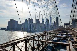 Brooklyn Bridge und Manhattan Skyline