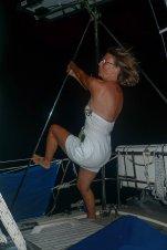 *Ich bekomme jedes Mal einen Lachkrampf, wenn ich mich beim Pole-Dancing sehe!