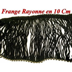 frange charleston rayonne en 10 cm noir au
