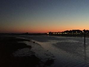 Seixal i solnedgang