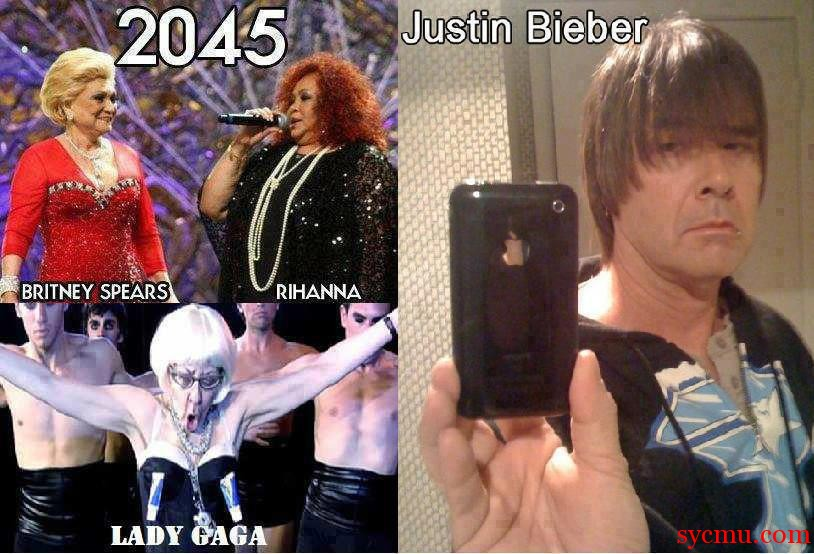 What will Bieber, Gaga, Rihanna look like in 25 years