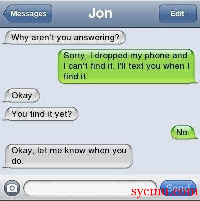 iphone msg fail