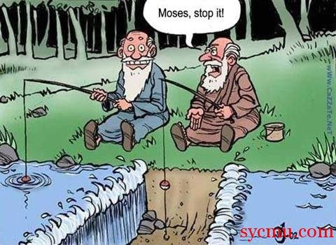 Moses out fishing