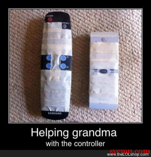 Simplified Remote Control for Granny