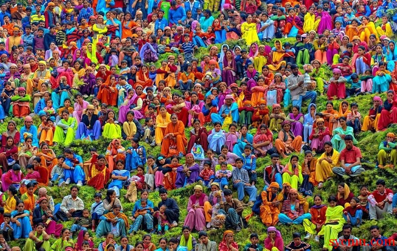 Colorful Indian clothes photography
