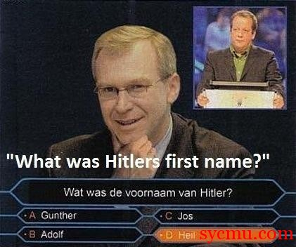What was Hitler's First Name? Heil