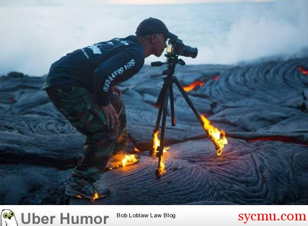 Photographing Volcano camera fire