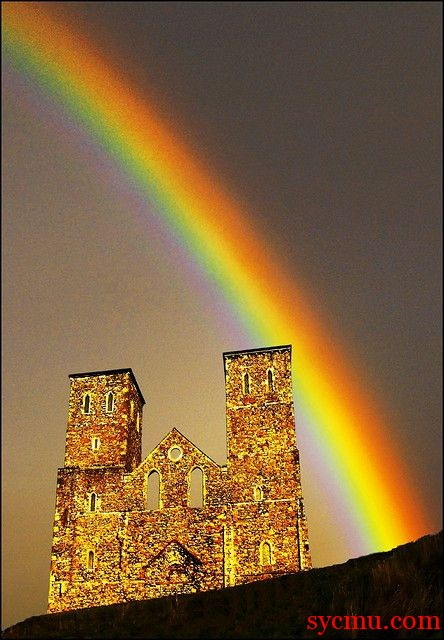Reculver Castle on the Kent coast, UK