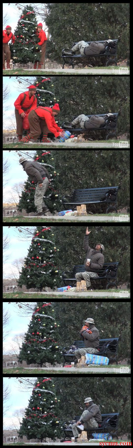 Christmas for Homeless man