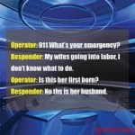 Is this her first born - funny 911 call