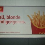 Blonde Tall and Gorgeous Mcdonalds ad