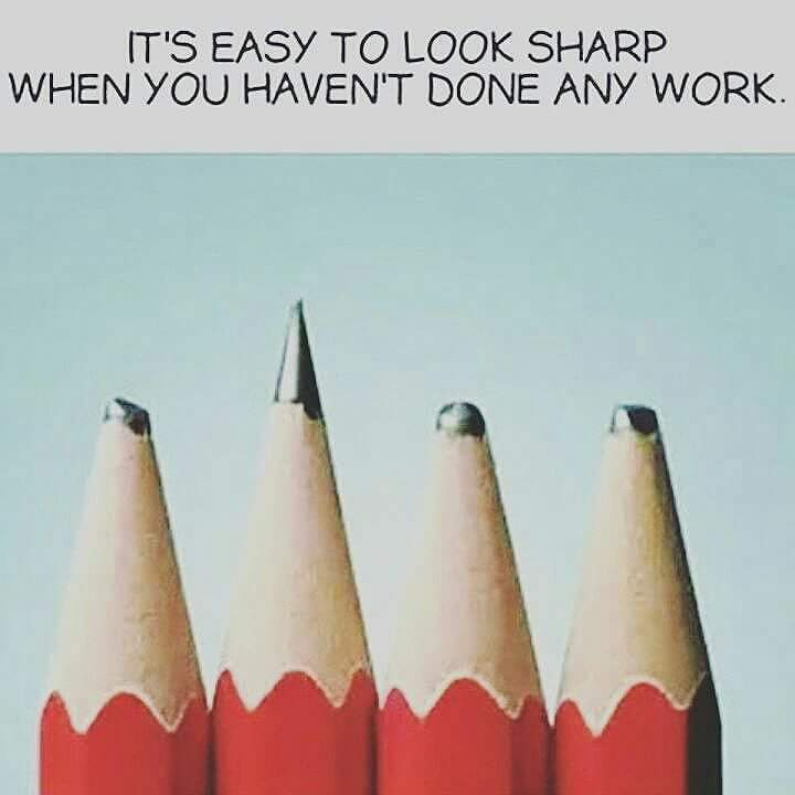 Sharp when you haven't done any work