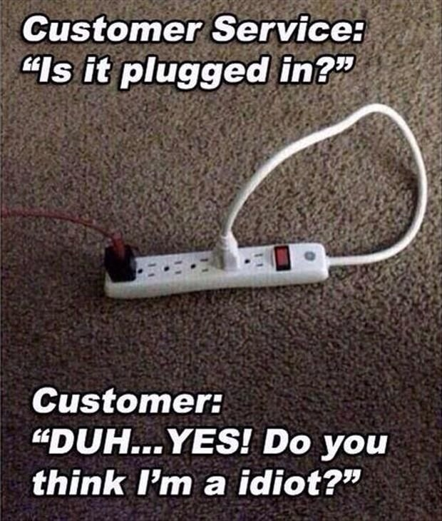 custemor service is it plugged in