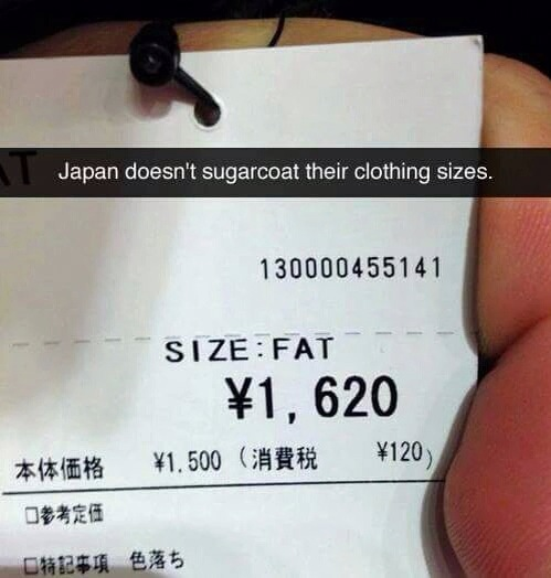 japanese size fat