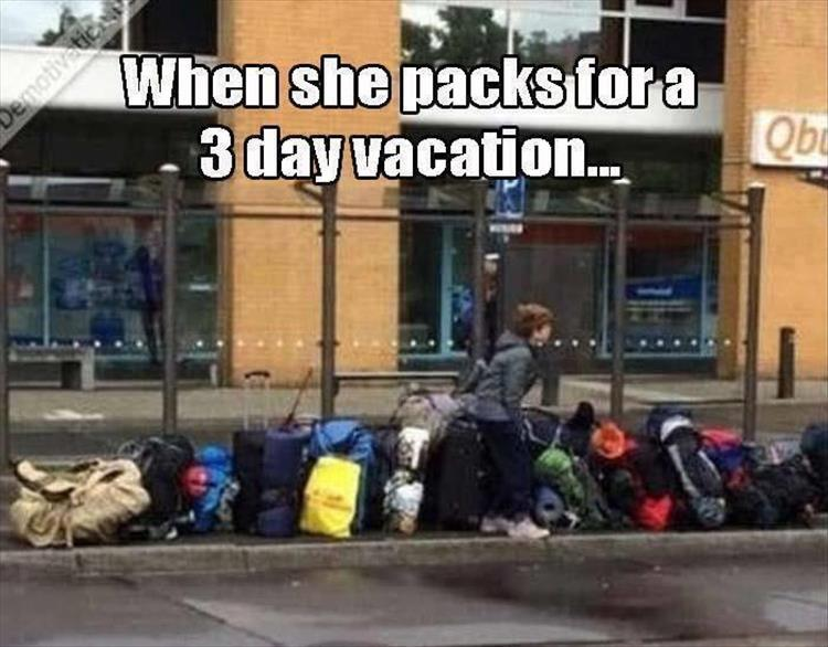 Girls packing
