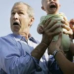 Baby does not like Bush