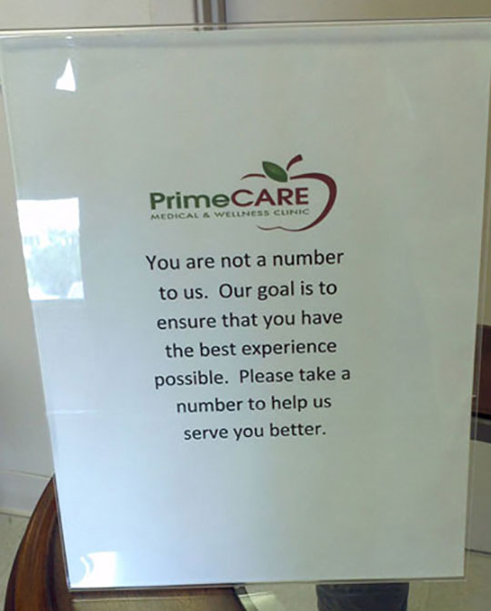 primecare take your number