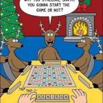 Santa Debating His Scrabble Move