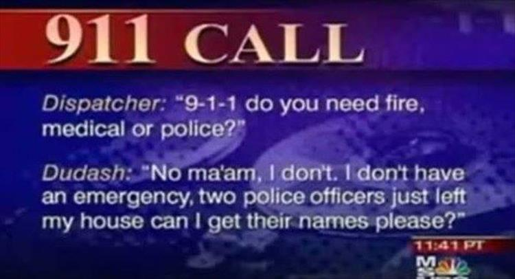 Police Officer Names 911 Call